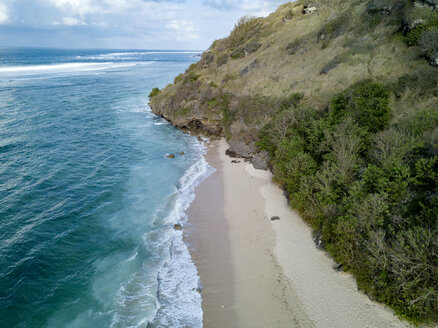 Indonesia, Bali, Aerial view of Payung beach - KNTF01491