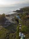 Indonesia, Bali, Aerial view of Tanah Lot temple - KNTF01506