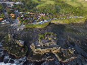 Indonesia, Bali, Aerial view of Tanah Lot temple - KNTF01515
