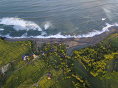 Indonesia, Bali, Kedungu, Aerial view of Kedungu Beach - KNTF01542