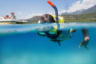 Boy snorkeling in the sea - AZOF00039