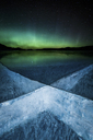 Aurora over frozen Abraham Lake - AURF04882