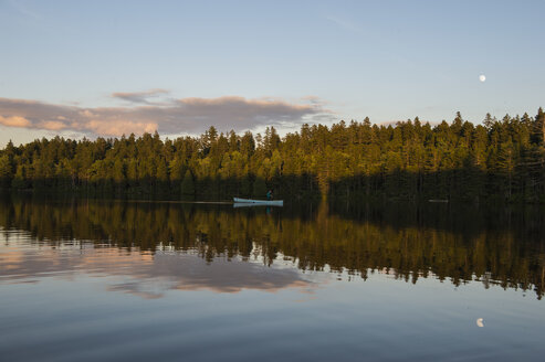 Canoe on a remote pond in Maine. - AURF04921