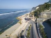 Indonesia, Bali, Aerial view of Melasti beach - KNTF01619