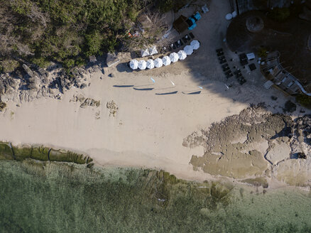 Indonesia, Bali, Aerial view of Melasti beach - KNTF01631