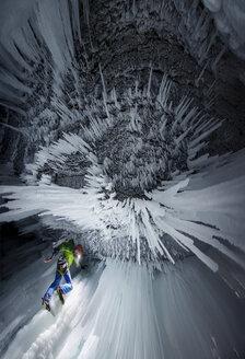 Ice climbing at Panther Falls, Banff National Park - AURF05239