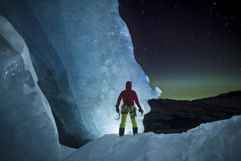 Ice Climbing under Aurora - AURF05242