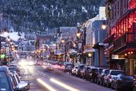 Long exposure of Main St. in Park City, Utah. - AURF05269