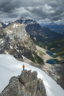 Man overlooking Consolation Lakes from Bident Mountain - AURF05323