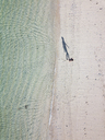 Indonesia, Bali, Melasti, Aerial view of Karma Kandara beach - KNTF01666