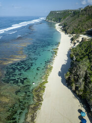 Indonesia, Bali, Aerial view of Karma Kandara beach - KNTF01672