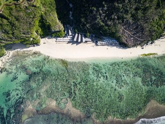 Indonesia, Bali, Aerial view of Karma Kandara beach - KNTF01675