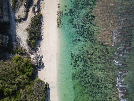 Indonesia, Bali, Aerial view of Karma Kandara beach - KNTF01678