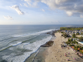 Indonesia, Bali, Aerial view of Dreamland beach - KNTF01724