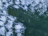 Indonesia, Bali, Aerial view of Dreamland beach - KNTF01751