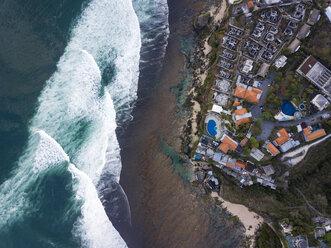 Indonesia, Bali, Aerial view of Uluwatu beach - KNTF01758