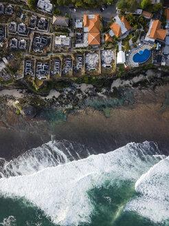 Indonesia, Bali, Aerial view of Uluwatu beach - KNTF01761