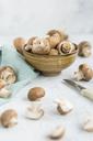 Bowl of Crimini Mushrooms - JUNF01269