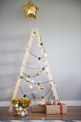 Christmas tree made from ladder - ABIF01067
