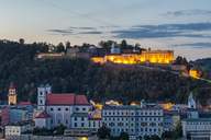 Germany, Bavaria, Passau, Fortress Oberhaus in the evening - JUNF01289