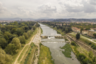 Italy, Tuscany, Florence, view to Arno river from above - FBAF00047