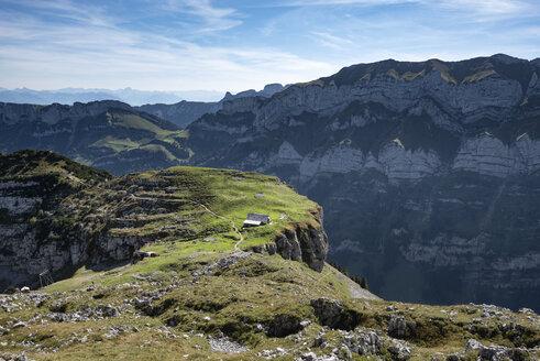 Switzerland, Appenzell, Alp Chlus on Zisler mountain in the Appenzell Alps - ELF01921