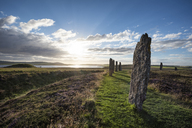 Great Britain, Scotland, Orkney, Mainland, Ring of Brodgar, neolithic stone circle - ELF01927