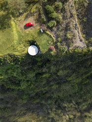 Indonesia, Bali, Aerial view of Nyang Nyang beach, VW beetle and observation point - KNTF01799