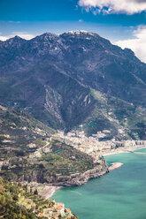 Italy, Campania, Amalfi Coast, Ravello, view of  the Amalfi Coast and Mediterranean sea - FLMF00059