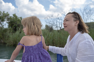 Mother and daughter on a boat trip - PSIF00093
