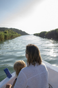 Mother and daughter on a boat trip - PSIF00099