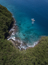 Indonesia, Bali, Aerial view of Blue Lagoon beach - KNTF01816