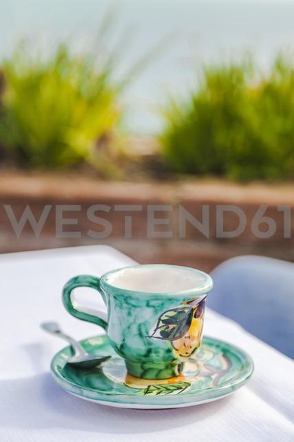 Painted ceramic espresso cup - FLMF00079