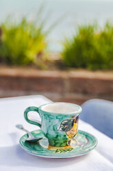 Painted ceramic espresso cup - FLMF00079