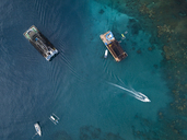 Indonesia, Bali, Aerial view of bathing platform - KNTF01866