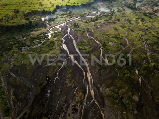 Indonesia, Bali, Aerial view of river - KNTF01893