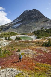 Man hiking towards Jim Kelly Peak - AURF06572