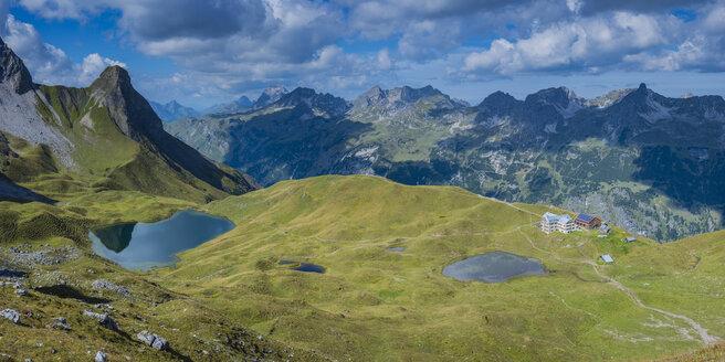 Germany, Bavaria, Allgaeu, Allgaeu Alps, Lake Rappensee and Small Rappensee, Rappensee hut, Schafalpenkoepfe - WGF01257