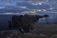 Portugal, Madeira, Sunset at the coast near Ponta de Sao Lourenco at sunrise - RUEF02019