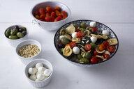 Mediterranean orecchiette with tomato, olives, mozzarella - GIOF04533