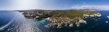 Spain, Mallorca, Aerial view of bay Cala Falco and Cala Bella Donna - AMF05976