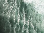 Indonesia, Bali, Aerial view of Balngan beach, surfer - KNTF01917