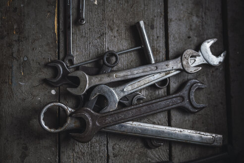 Group of wrenches on wood - KKAF02398
