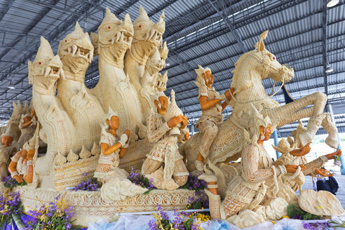 Thailand, Ubon Ratchathani Province, Candle Festival, wax works - ZCF00674