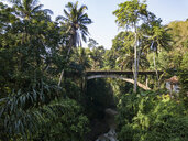 Indonesia, Bali, Ubud, Aerial view of bridge - KNTF01988