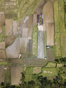 Indonesia, Bali, Ubud, Aerial view of rice fields - KNTF02021