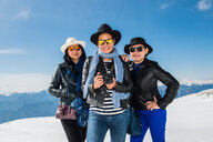Tourists on Italian alps, Malcesine, Veneto, Italy - CUF44245