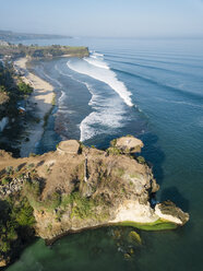 Indonesia, Bali, Aerial view of viewpoint at Balangan beach - KNTF02041