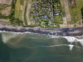 Indonesia, Bali, Aerial view of Yeh Gangga beach from above - KNTF02092