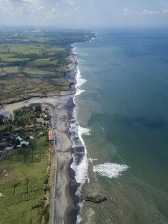 Indonesia, Bali, Aerial view of Yeh Gangga beach - KNTF02098